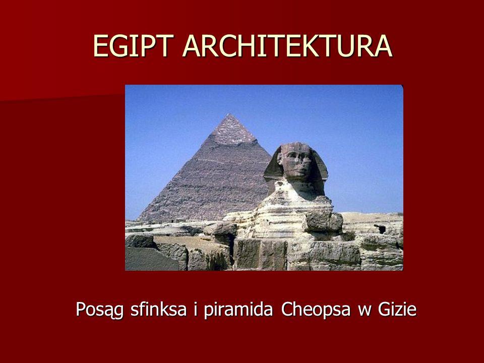Posąg sfinksa i piramida Cheopsa w Gizie