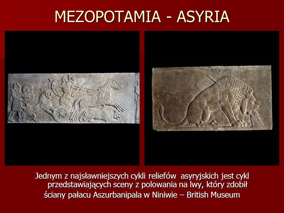 ściany pałacu Aszurbanipala w Niniwie – British Museum