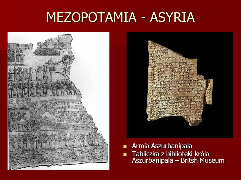 MEZOPOTAMIA - ASYRIA Armia Aszurbanipala