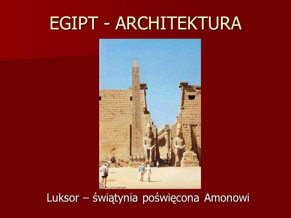 Luksor – świątynia poświęcona Amonowi