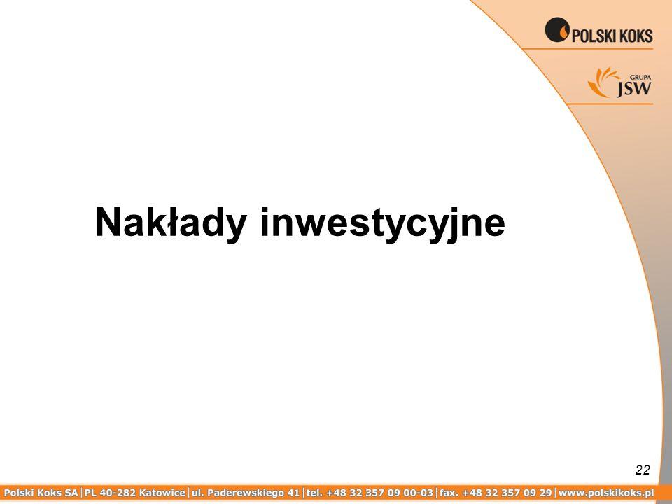 Nakłady inwestycyjne
