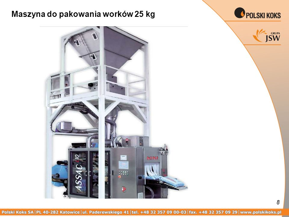 Maszyna do pakowania worków 25 kg