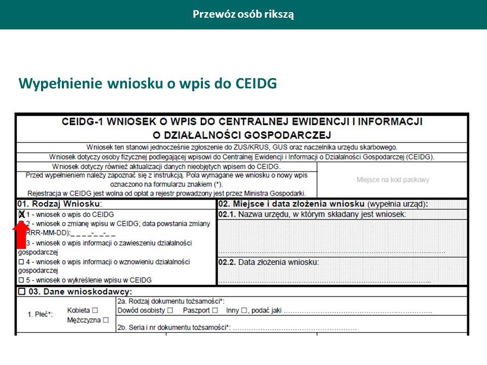 Wypełnienie wniosku o wpis do CEIDG