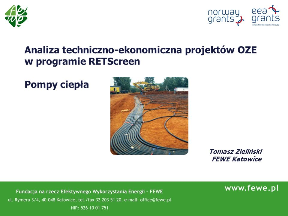 Analiza techniczno-ekonomiczna projektów OZE w programie RETScreen