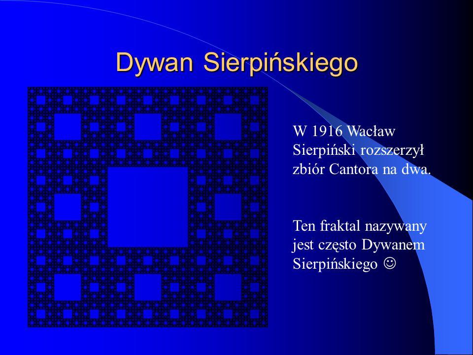 Dywan Sierpińskiego W 1916 Wacław Sierpiński rozszerzył