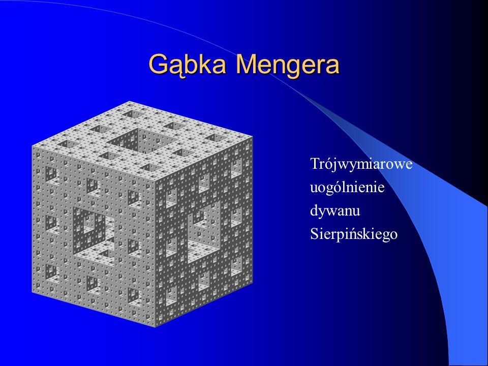 Gąbka Mengera Trójwymiarowe uogólnienie dywanu Sierpińskiego