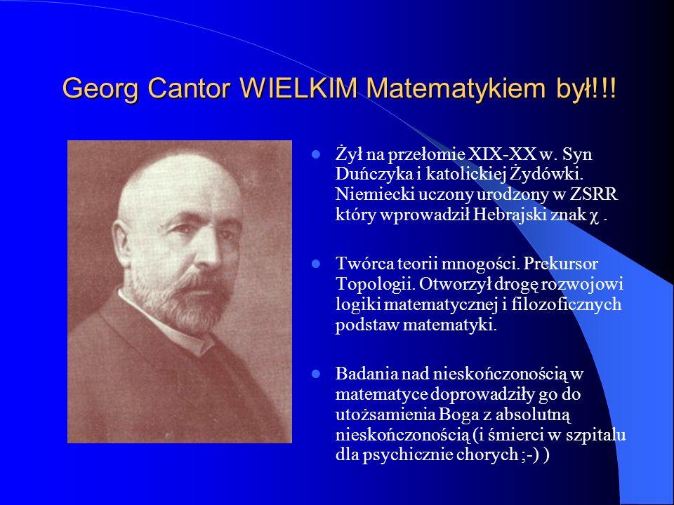 Georg Cantor WIELKIM Matematykiem był!!!