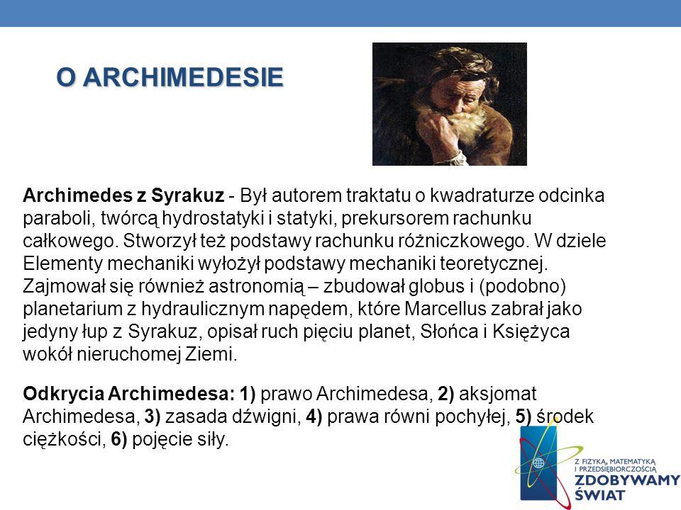 O ARCHIMEDESIE