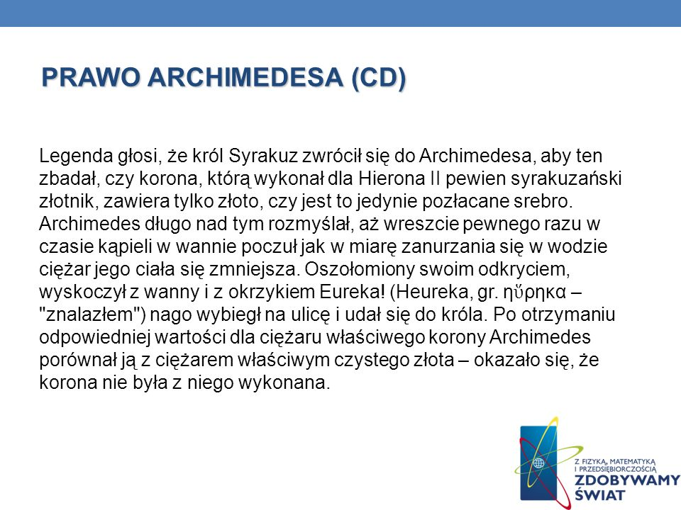 PRAWO ARCHIMEDESA (CD)