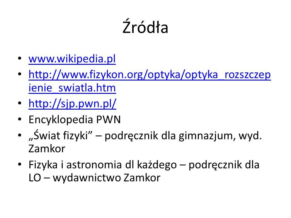 Źródła www.wikipedia.pl