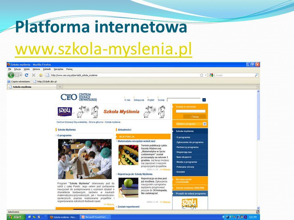 Platforma internetowa www.szkola-myslenia.pl