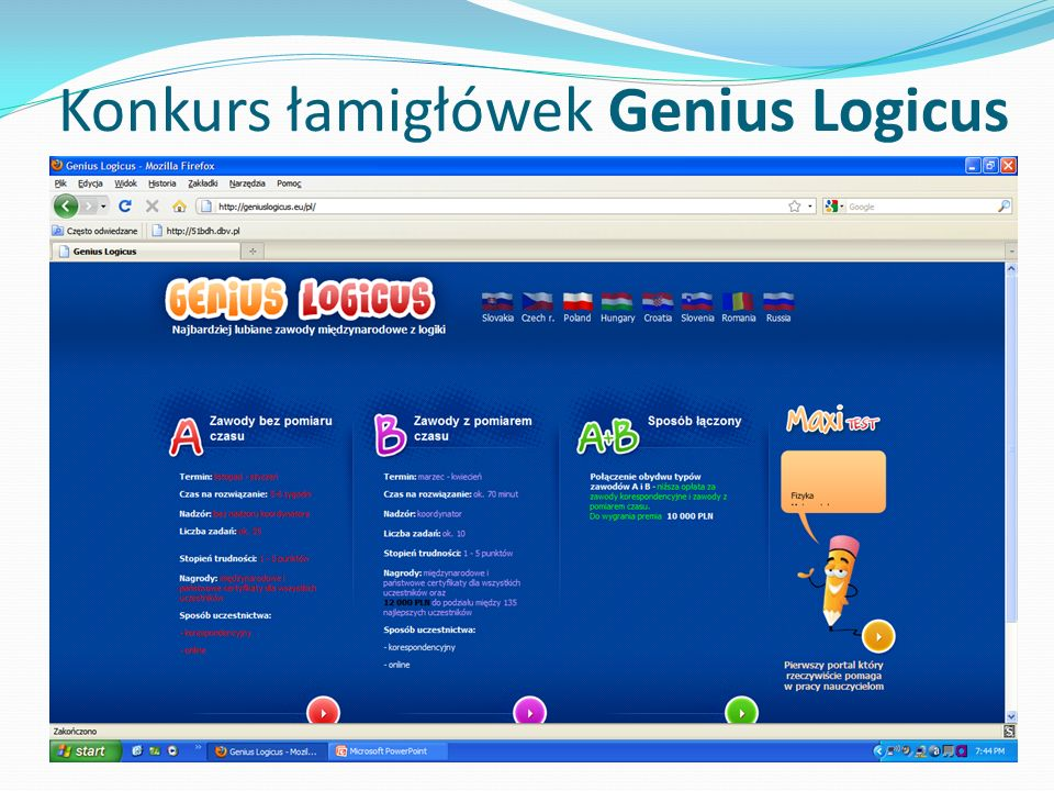 Konkurs łamigłówek Genius Logicus