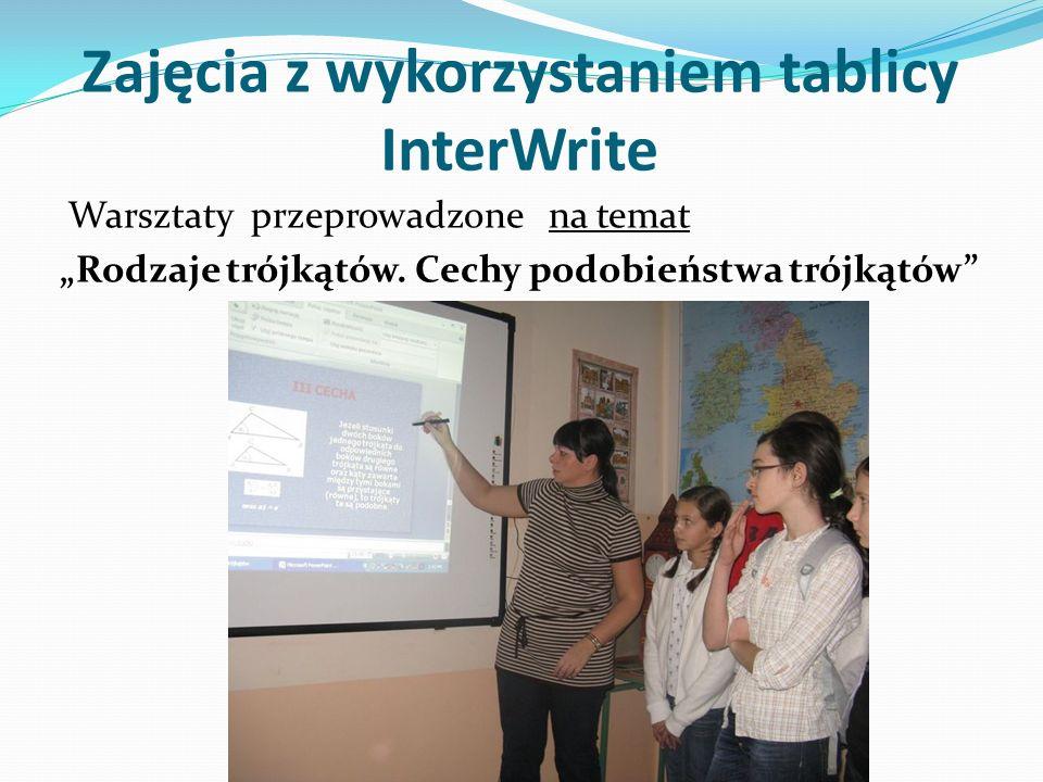 Zajęcia z wykorzystaniem tablicy InterWrite