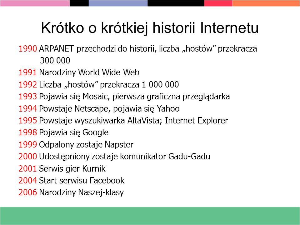 Krótko o krótkiej historii Internetu