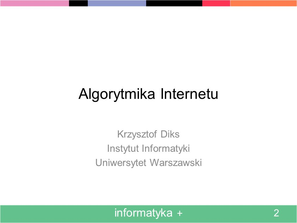 Algorytmika Internetu