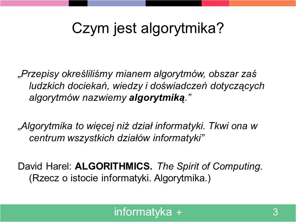 Czym jest algorytmika informatyka +