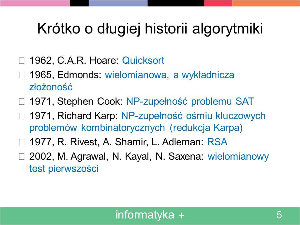 Krótko o długiej historii algorytmiki