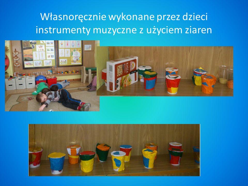 Własnoręcznie wykonane przez dzieci instrumenty muzyczne z użyciem ziaren