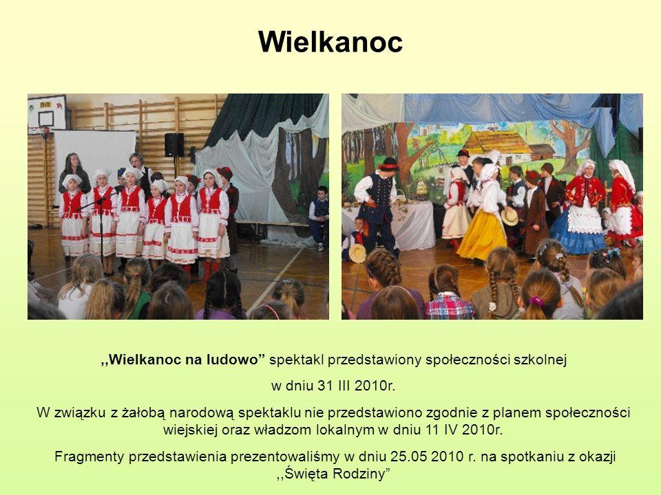 ,,Wielkanoc na ludowo spektakl przedstawiony społeczności szkolnej
