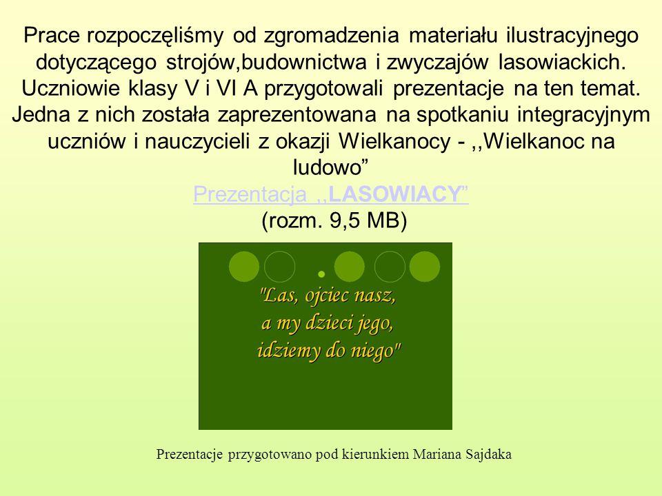 Prezentacje przygotowano pod kierunkiem Mariana Sajdaka