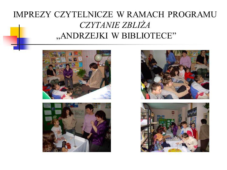 """IMPREZY CZYTELNICZE W RAMACH PROGRAMU CZYTANIE ZBLIŻA """"ANDRZEJKI W BIBLIOTECE"""