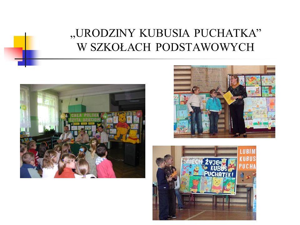 """""""URODZINY KUBUSIA PUCHATKA W SZKOŁACH PODSTAWOWYCH"""