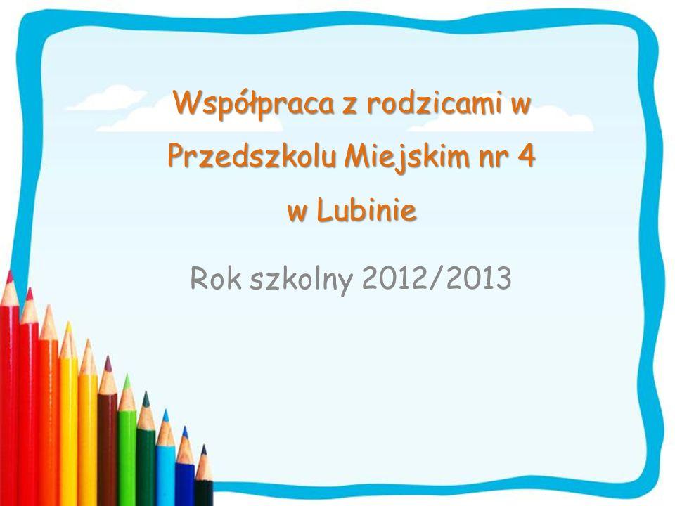 Współpraca z rodzicami w Przedszkolu Miejskim nr 4 w Lubinie
