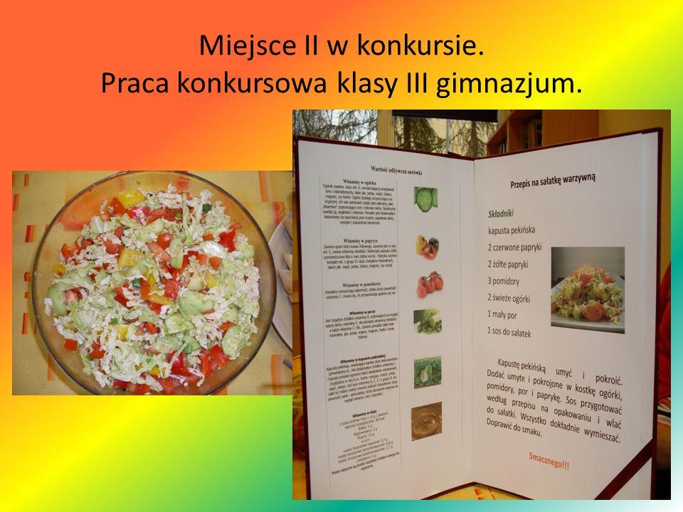 Miejsce II w konkursie. Praca konkursowa klasy III gimnazjum.