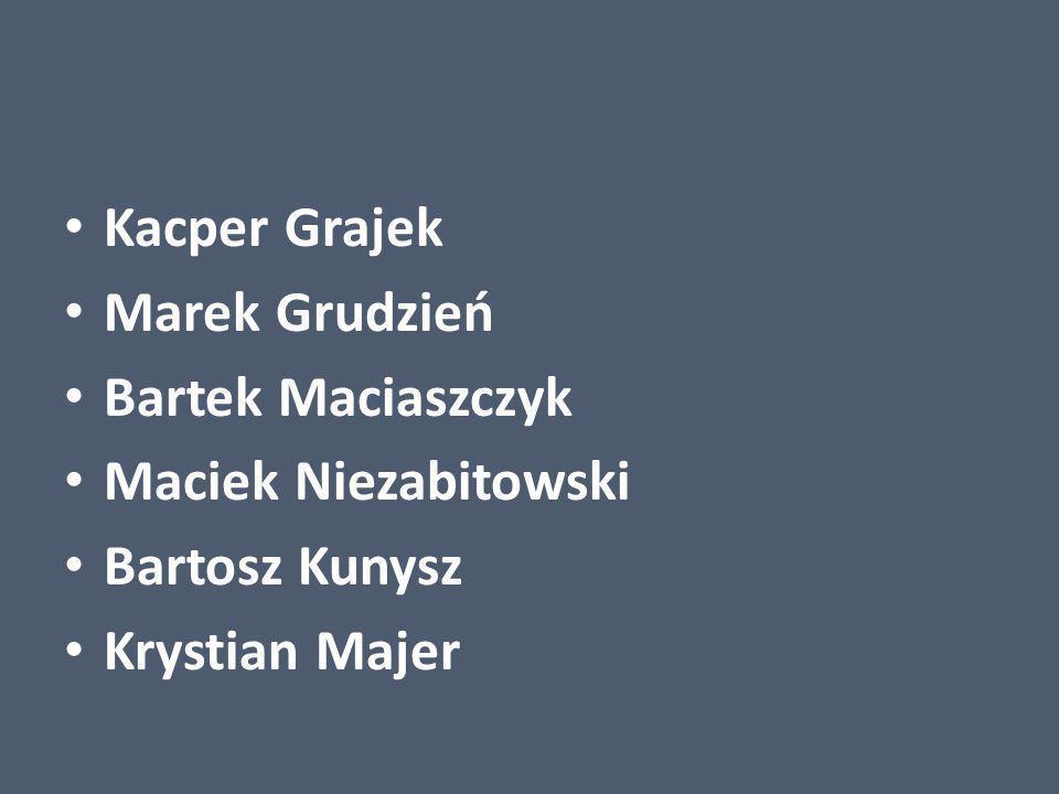 Kacper Grajek Marek Grudzień Bartek Maciaszczyk Maciek Niezabitowski Bartosz Kunysz Krystian Majer