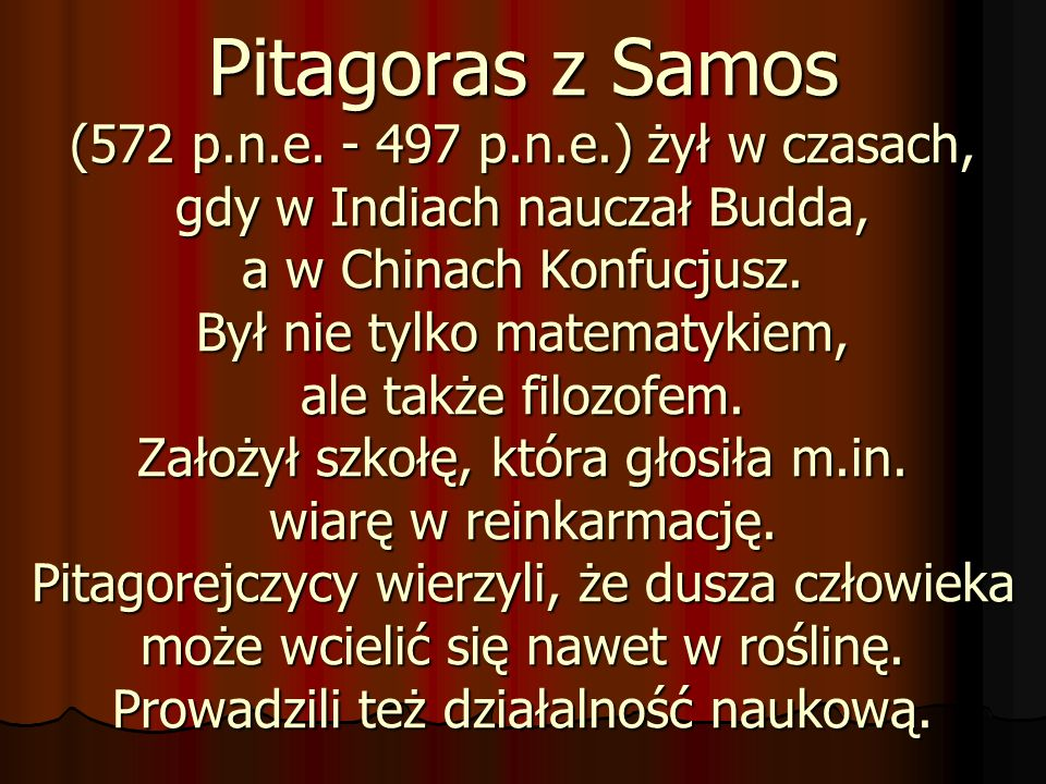 Pitagoras z Samos (572 p. n. e. - 497 p. n. e