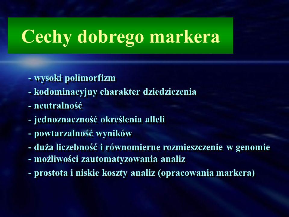 Cechy dobrego markera - wysoki polimorfizm
