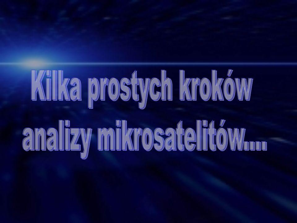 analizy mikrosatelitów....