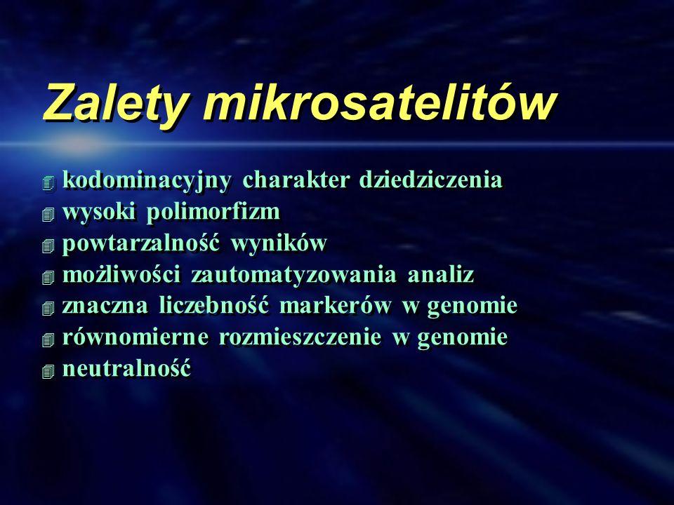 Zalety mikrosatelitów