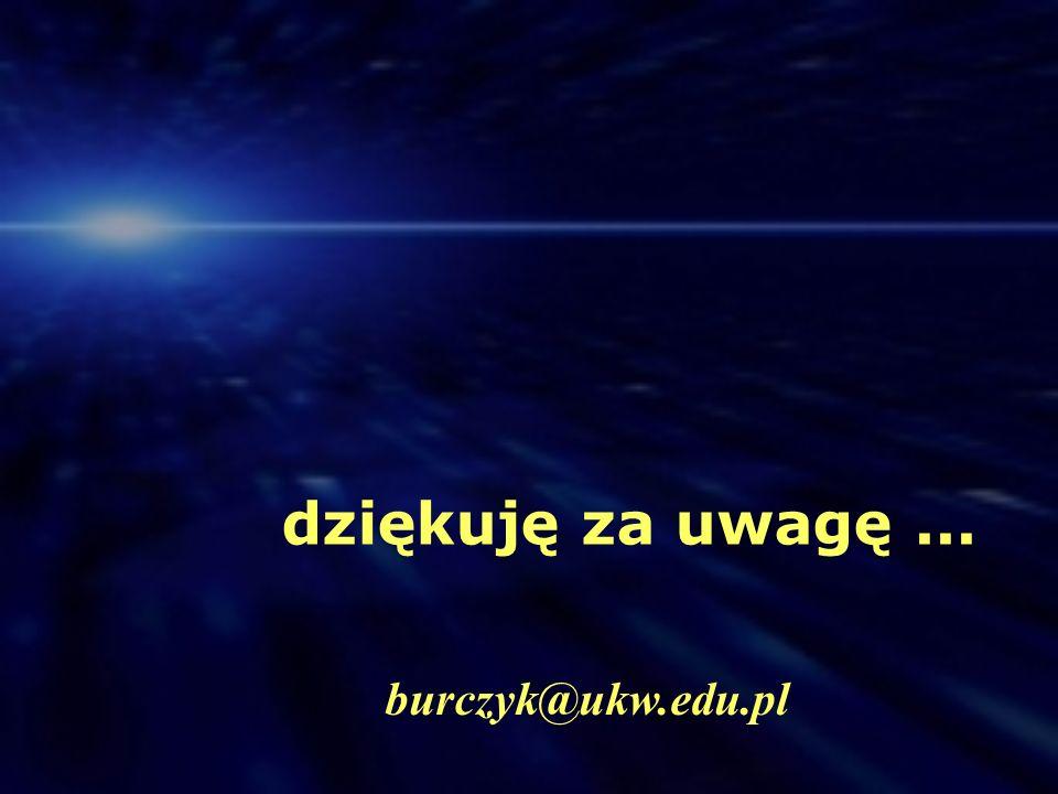dziękuję za uwagę ... burczyk@ukw.edu.pl