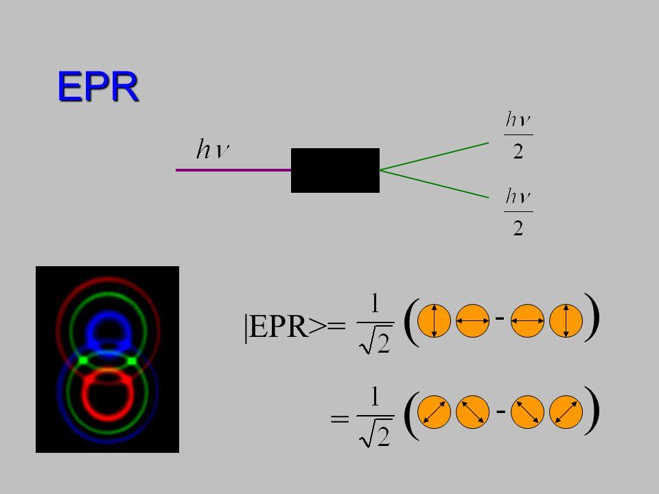 EPR ) ( - |EPR>= ) ( - =