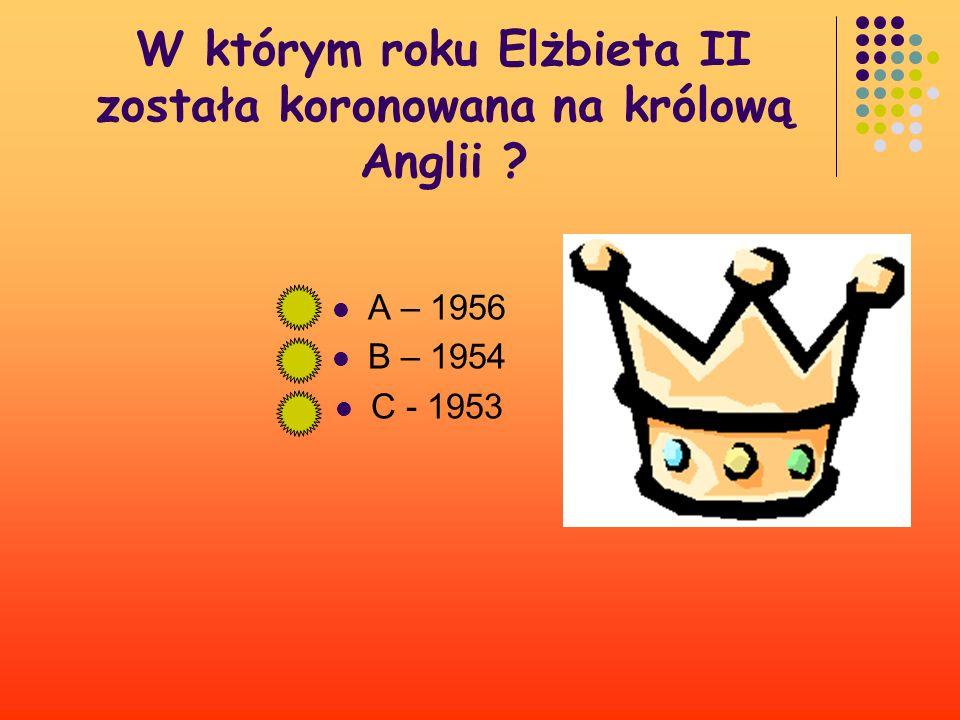 W którym roku Elżbieta II została koronowana na królową Anglii