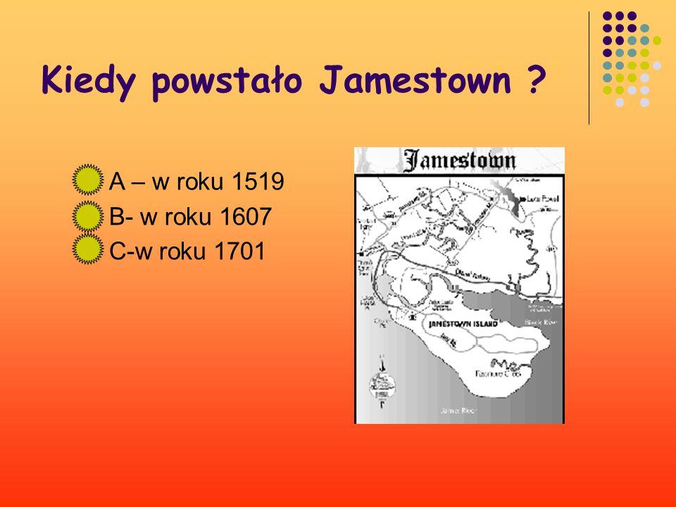Kiedy powstało Jamestown