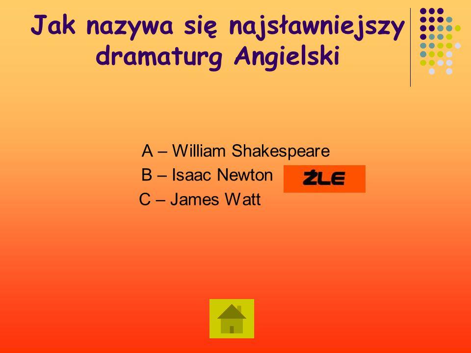 Jak nazywa się najsławniejszy dramaturg Angielski