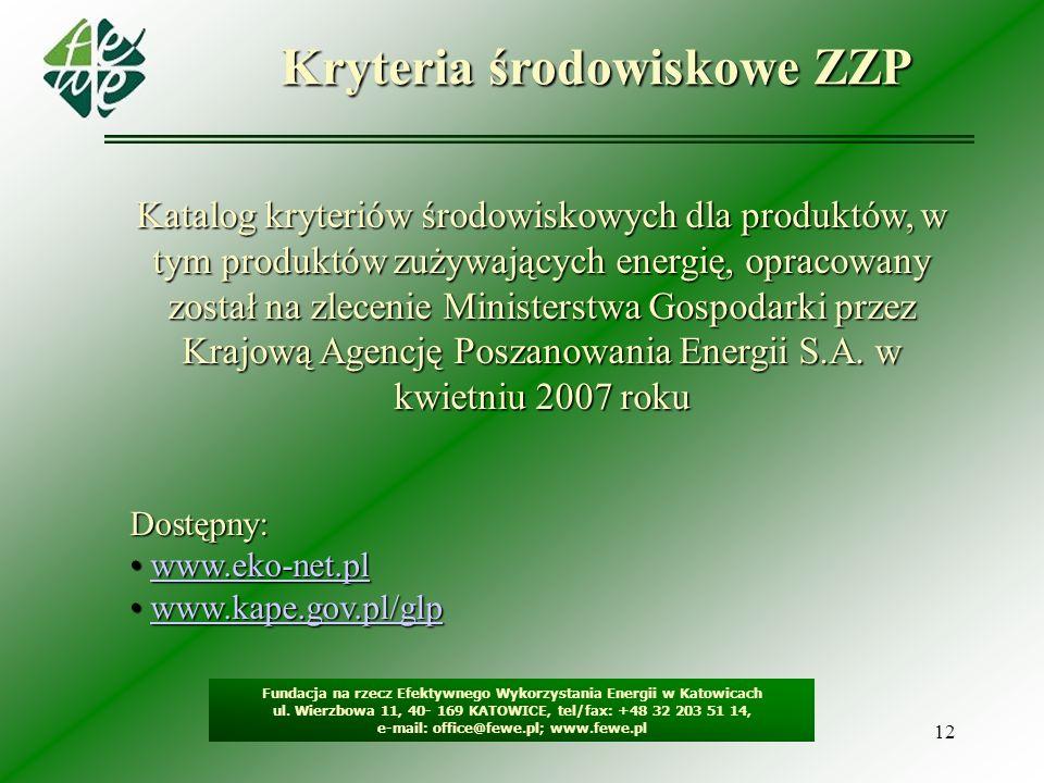 Kryteria środowiskowe ZZP