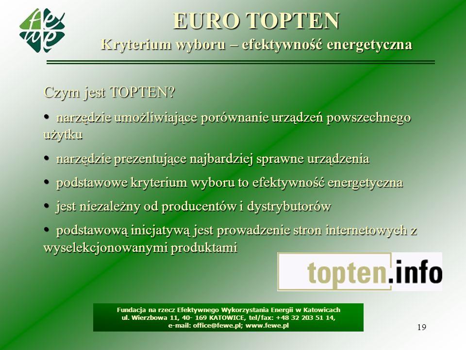 Kryterium wyboru – efektywność energetyczna