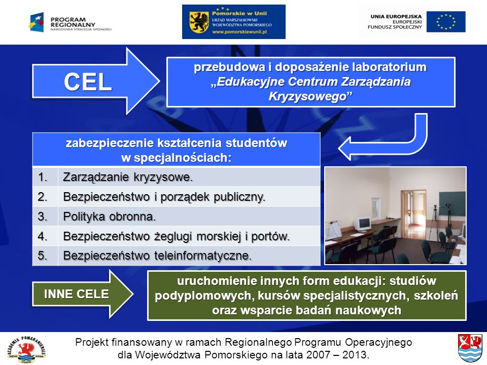 zabezpieczenie kształcenia studentów w specjalnościach: