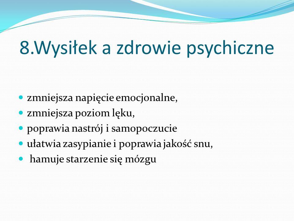 8.Wysiłek a zdrowie psychiczne