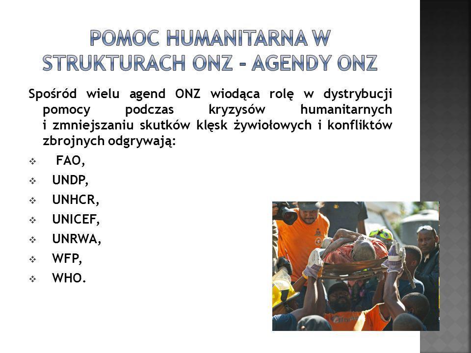 Pomoc humanitarna w strukturach ONZ - AGENDY ONZ