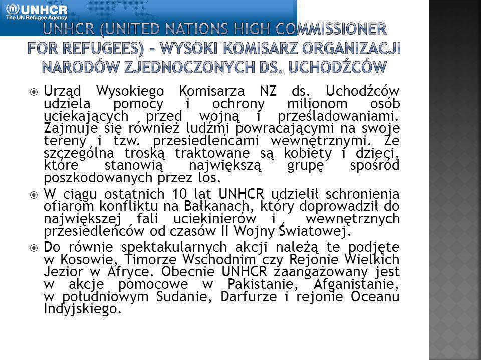 UNHCR (United Nations High Commissioner for Refugees) - Wysoki Komisarz Organizacji Narodów Zjednoczonych ds. Uchodźców