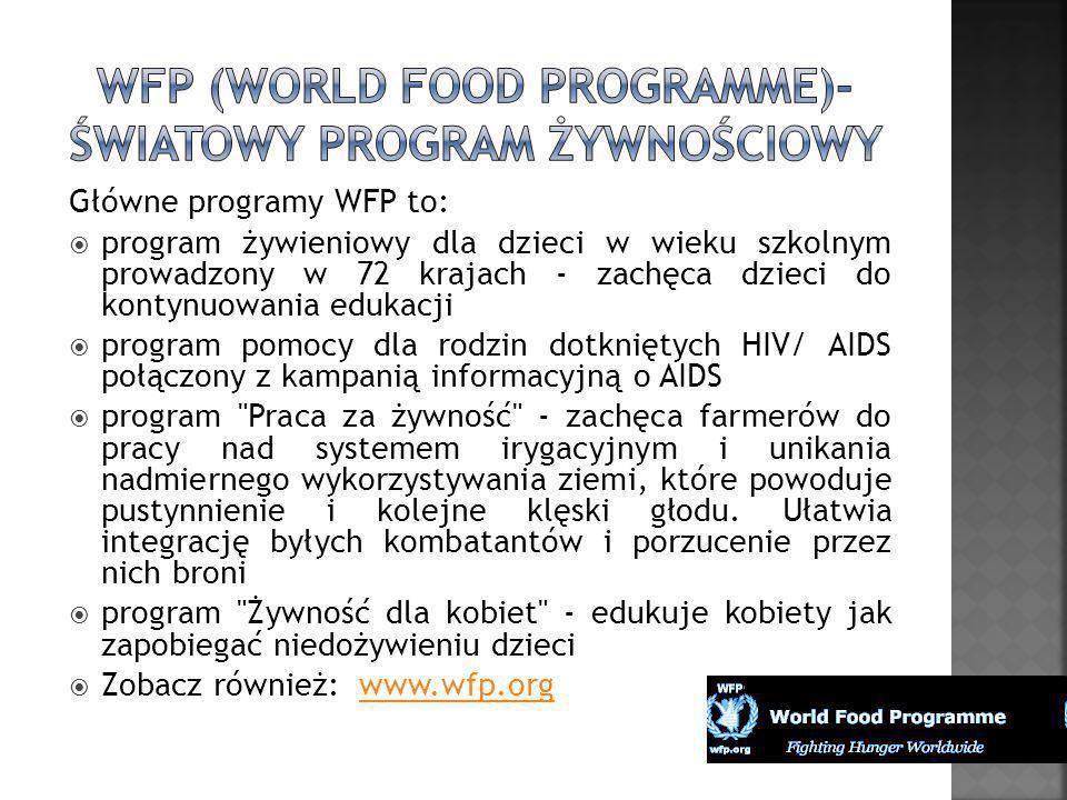 WFP (World Food Programme)- Światowy Program Żywnościowy