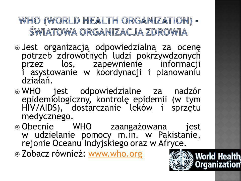 WHO (World Health Organization) - Światowa Organizacja Zdrowia