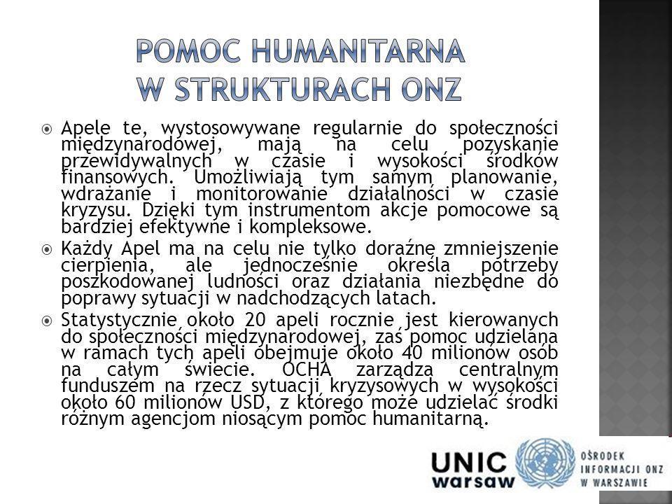 Pomoc humanitarna w strukturach ONZ