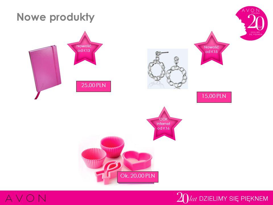 Nowe produkty 25,00 PLN 15,00 PLN Ok. 20,00 PLN