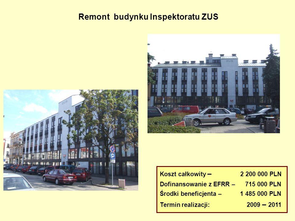 Remont budynku Inspektoratu ZUS