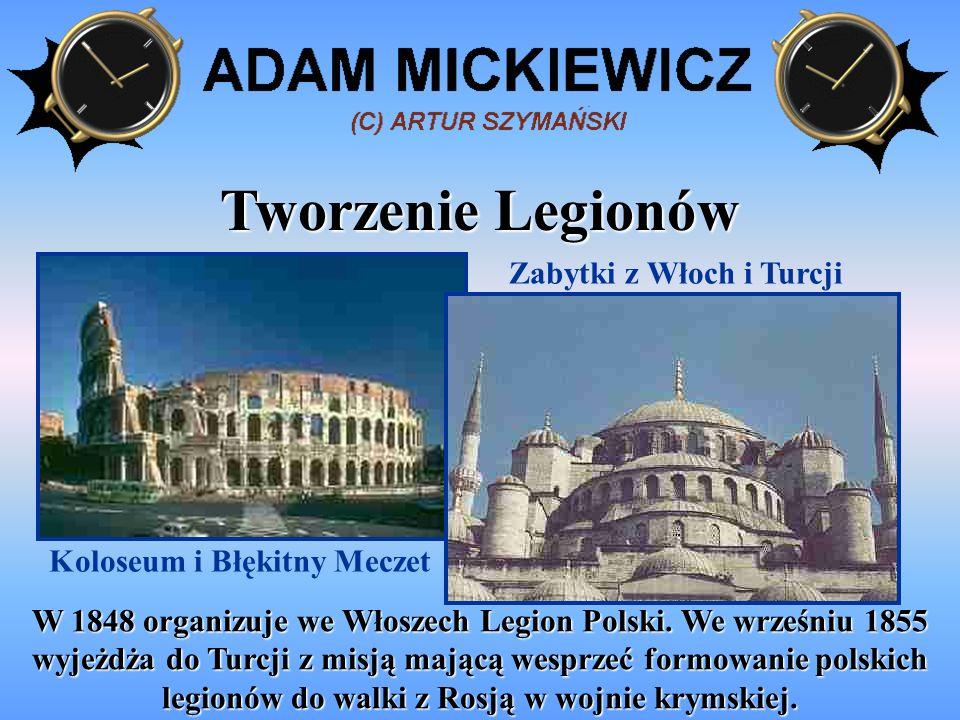 Zabytki z Włoch i Turcji Koloseum i Błękitny Meczet